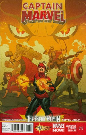 Captain Marvel Vol 6 #13 Regular Joe Quinones Cover (Enemy Within Part 3)