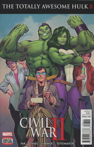 Totally Awesome Hulk #8 (Civil War II Tie-In)