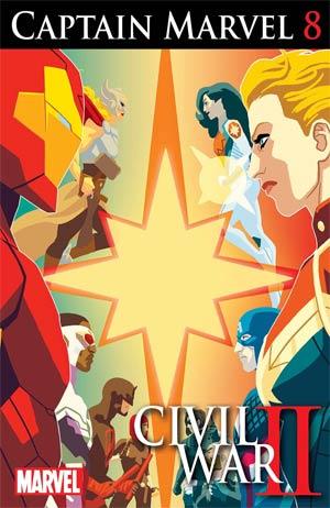 Captain Marvel Vol 8 #8 (Civil War II Tie-In)
