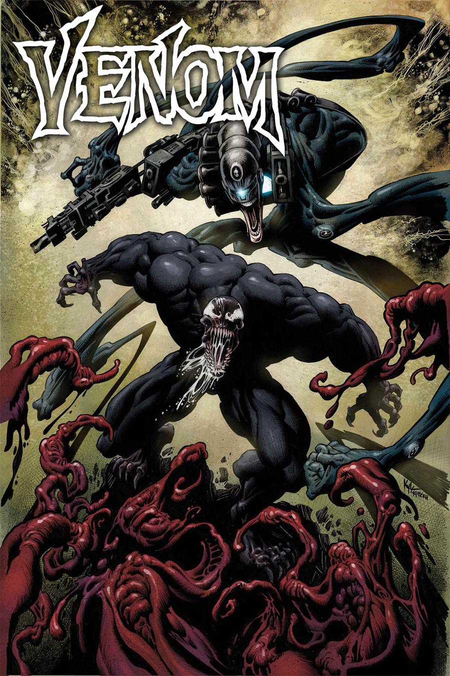 Venom Vol 4 #18 Cover A Regular Kyle Hotz Cover (Absolute Carnage Tie-In)
