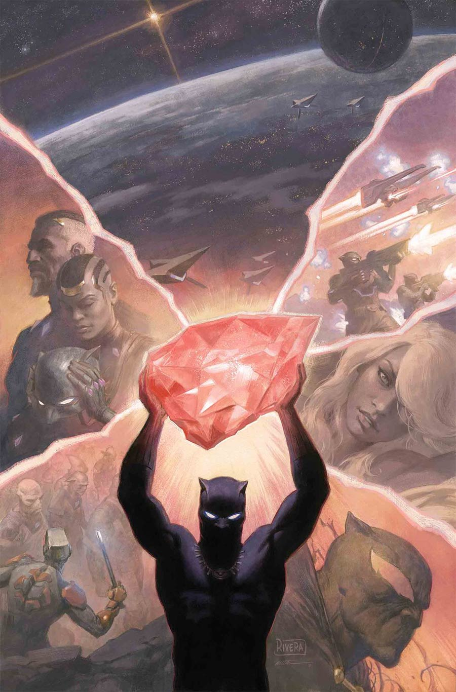 Black Panther Vol 7 #7 Cover A Regular Paolo Rivera & Daniel Acuna Cover