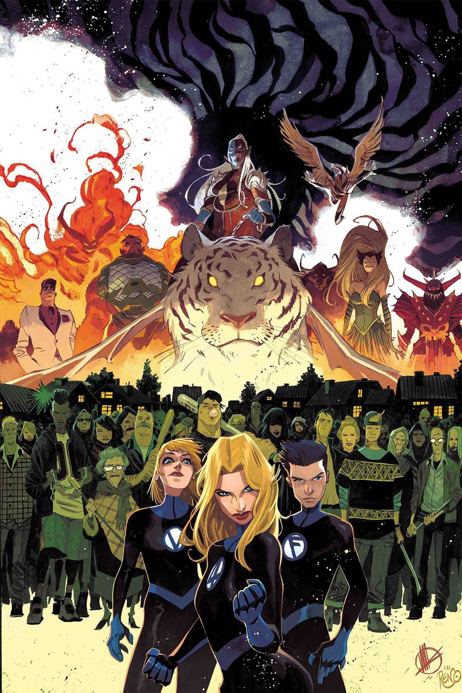 Fantastic Four Vol 6 #10 Cover A Regular Matteo Scalera Cover (War Of The Realms Tie-In)