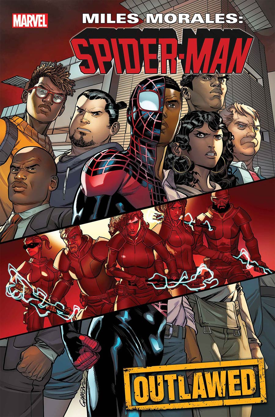 Miles Morales Spider-Man #18 Cover A Regular Javier Garron Cover (Outlawed Tie-In)