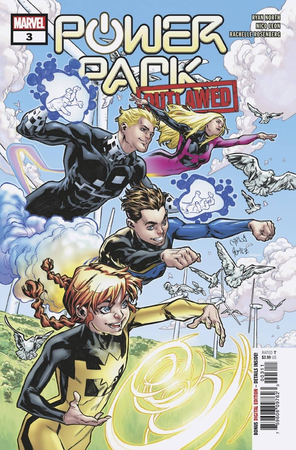 Power Pack Vol 4 #3 Cover A Regular Carlos Gomez Cover (Outlawed Tie-In)
