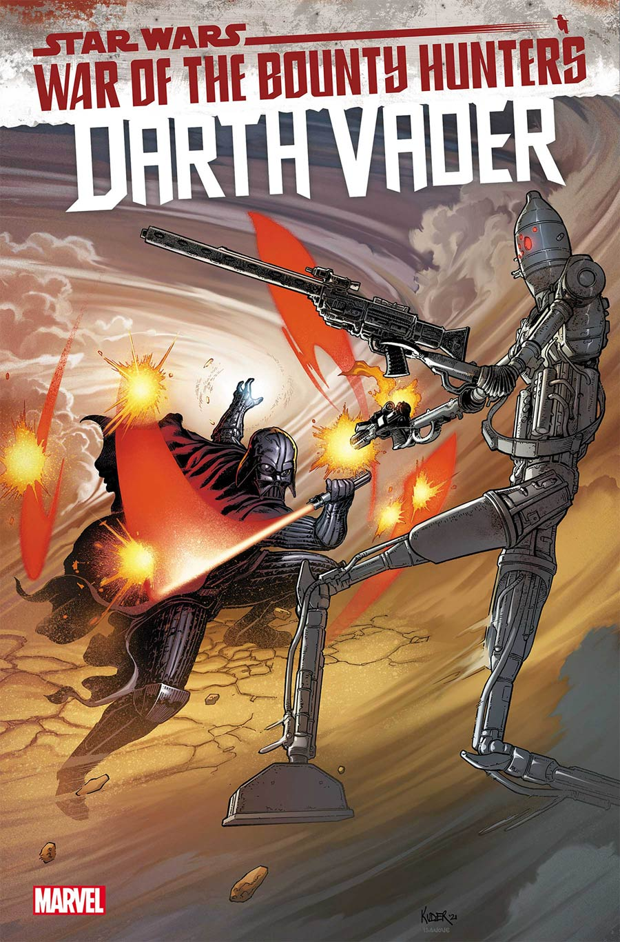 Star Wars Darth Vader #13 Cover A Regular Aaron Kuder Cover (War Of The Bounty Hunters Tie-In)